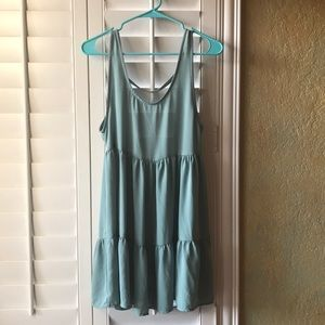 Solemio Los Angeles Mint Green Dress with low back